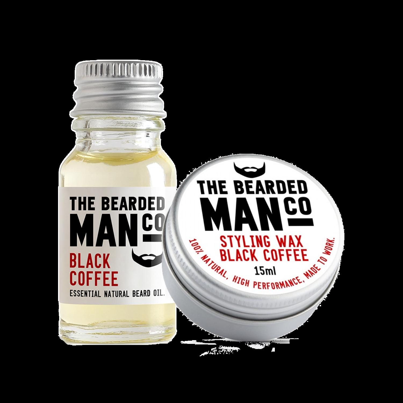 black coffee szakállolaj és wax