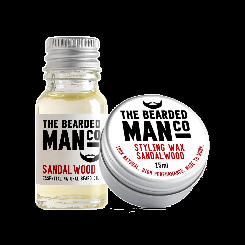sandalwood szakállolaj és wax