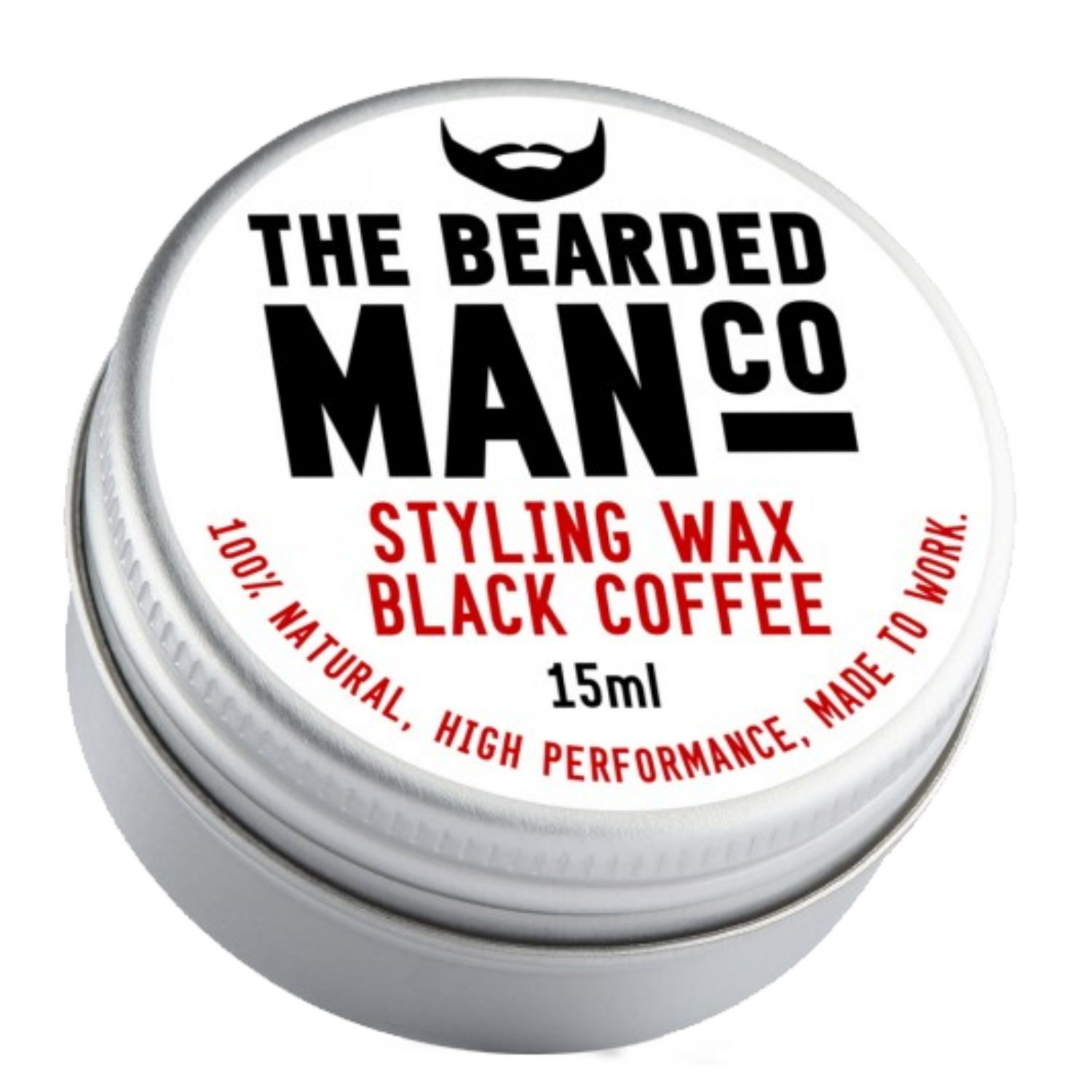 the bearded man company black coffee szakáll és bajuszwax