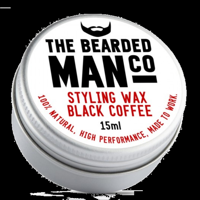 the bearded man company black coffee szakáll és bajuszwax