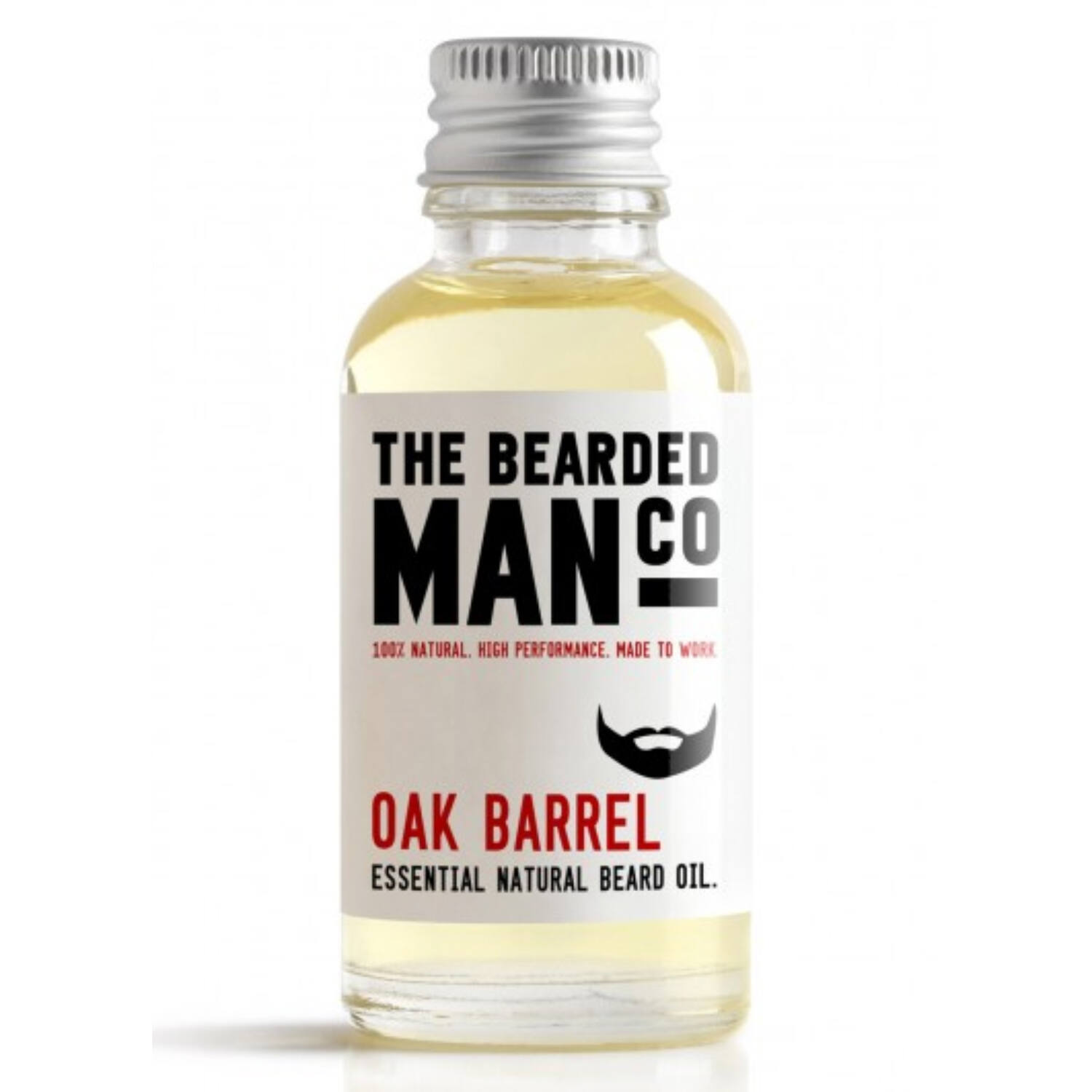 the bearded man company oak barrel szakállolaj 30ml