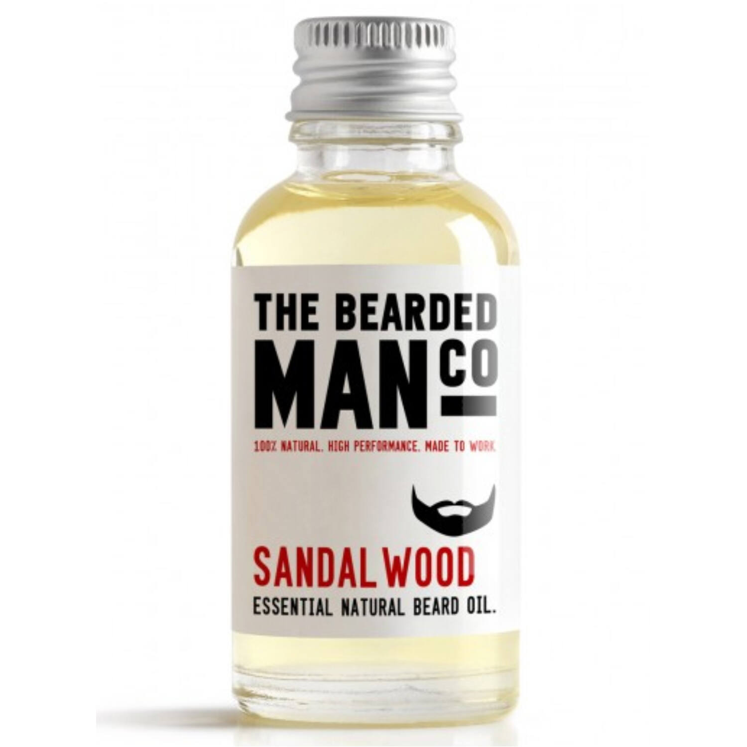the bearded man company sandalwood szakállolaj 30ml