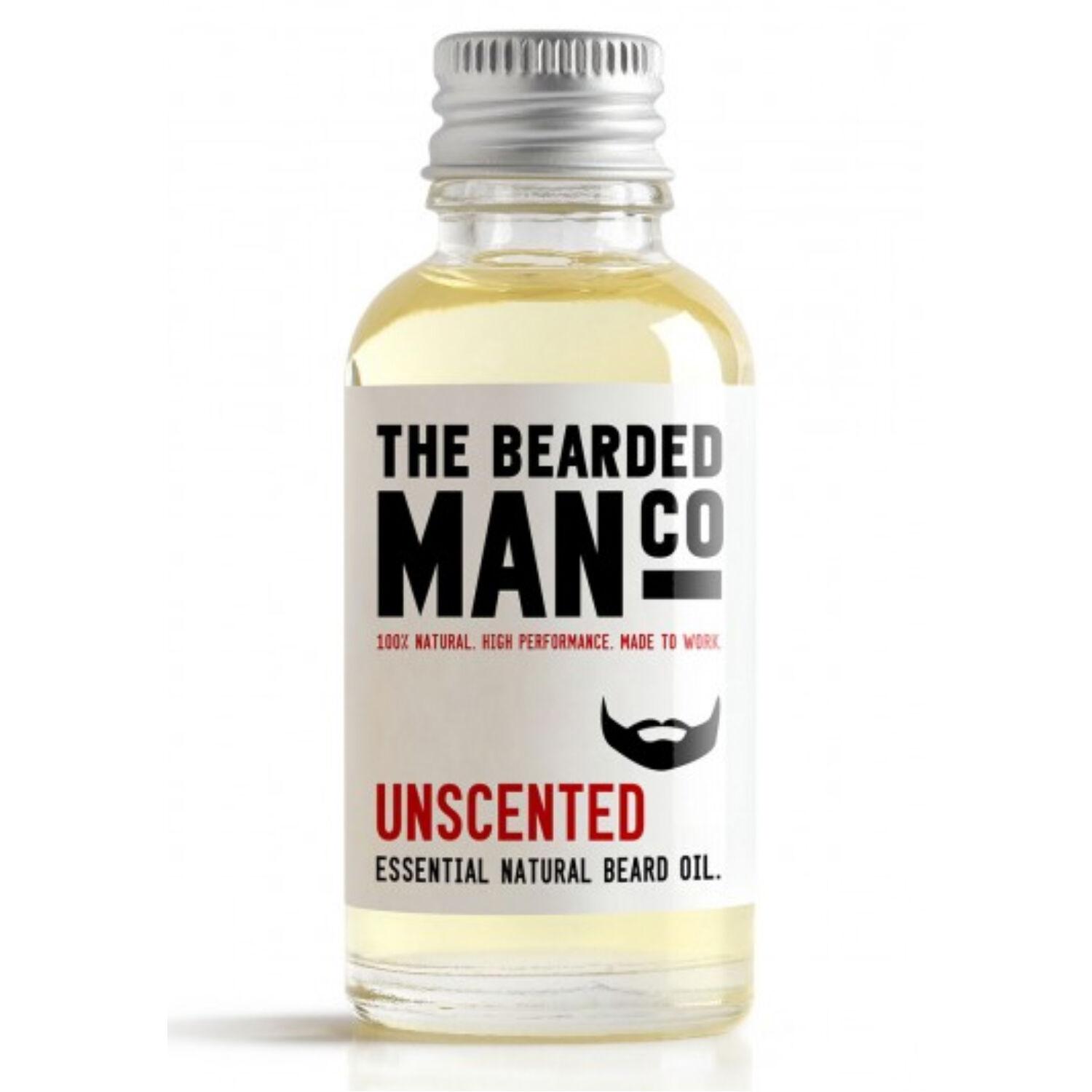 the bearded man company unscented szakállolaj 30ml